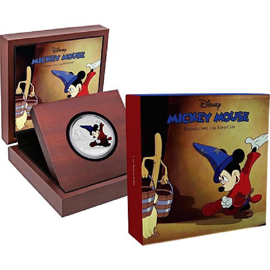 2017 1 oz Silver $2 Mickey Through the Ages: Fantasia - 4