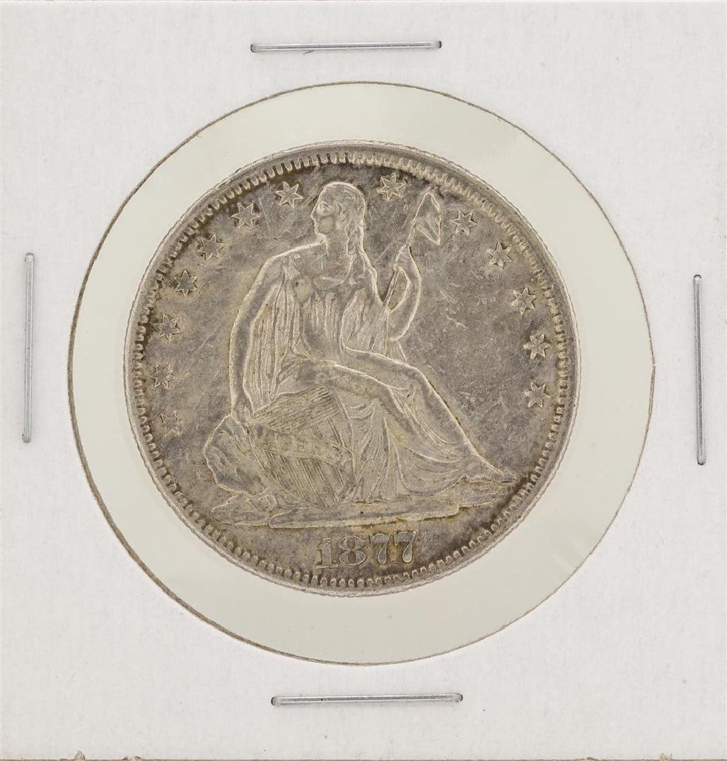 1877 Seated Liberty Half Dollar Silver Coin