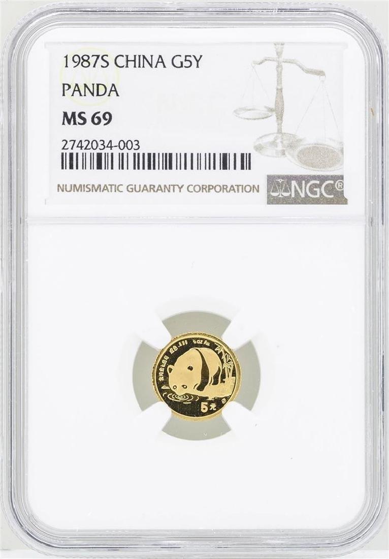 1987S China 5 Yuan Gold Panda Coin NGC MS69