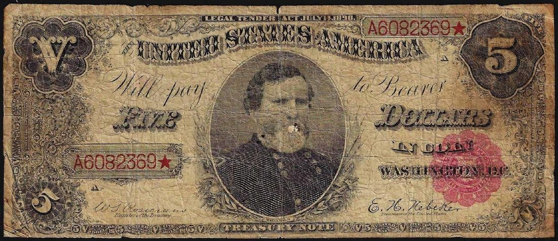 1890 $5 Treasury Note