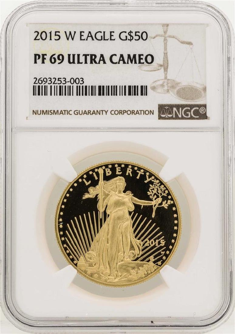 2015-W $50 American Gold Eagle Coin NGC PF69 Ultra
