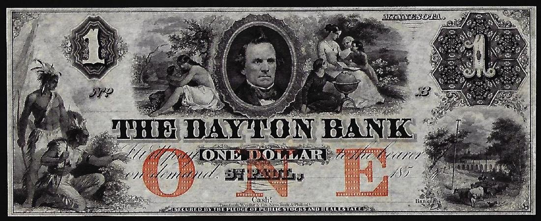 1850's $1 The Daytona Bank Obsolete Note