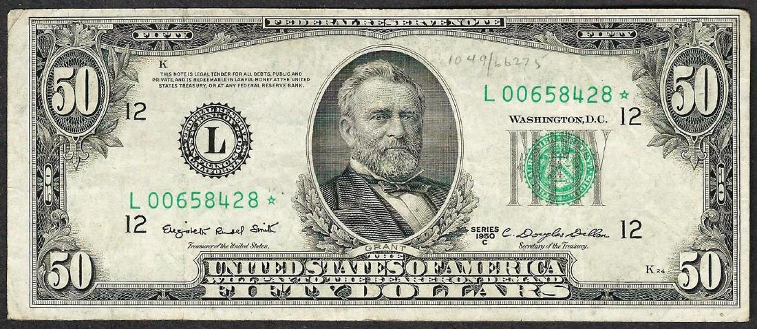 1950C $50 Federal Reserve STAR Note