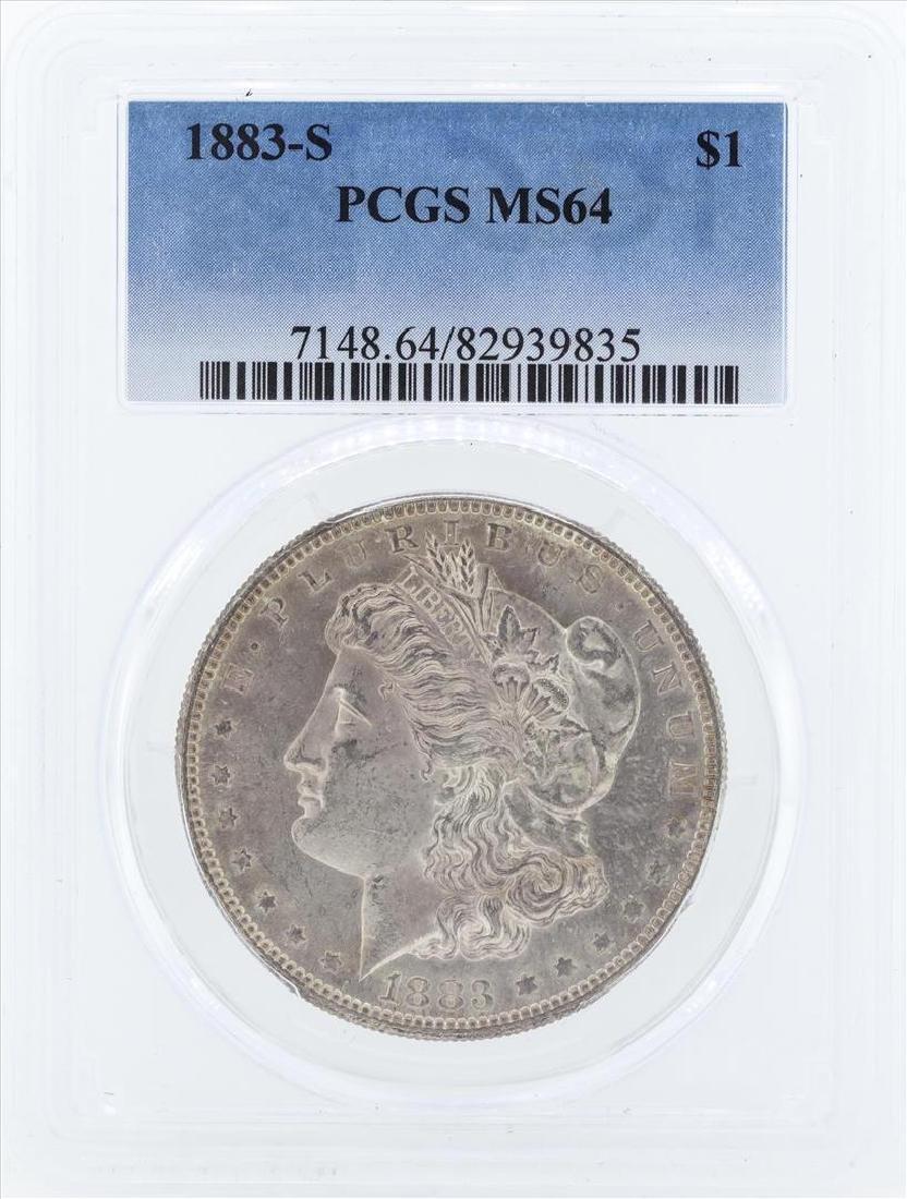 1883-S $1 Morgan Silver Dollar Coin PCGS MS64