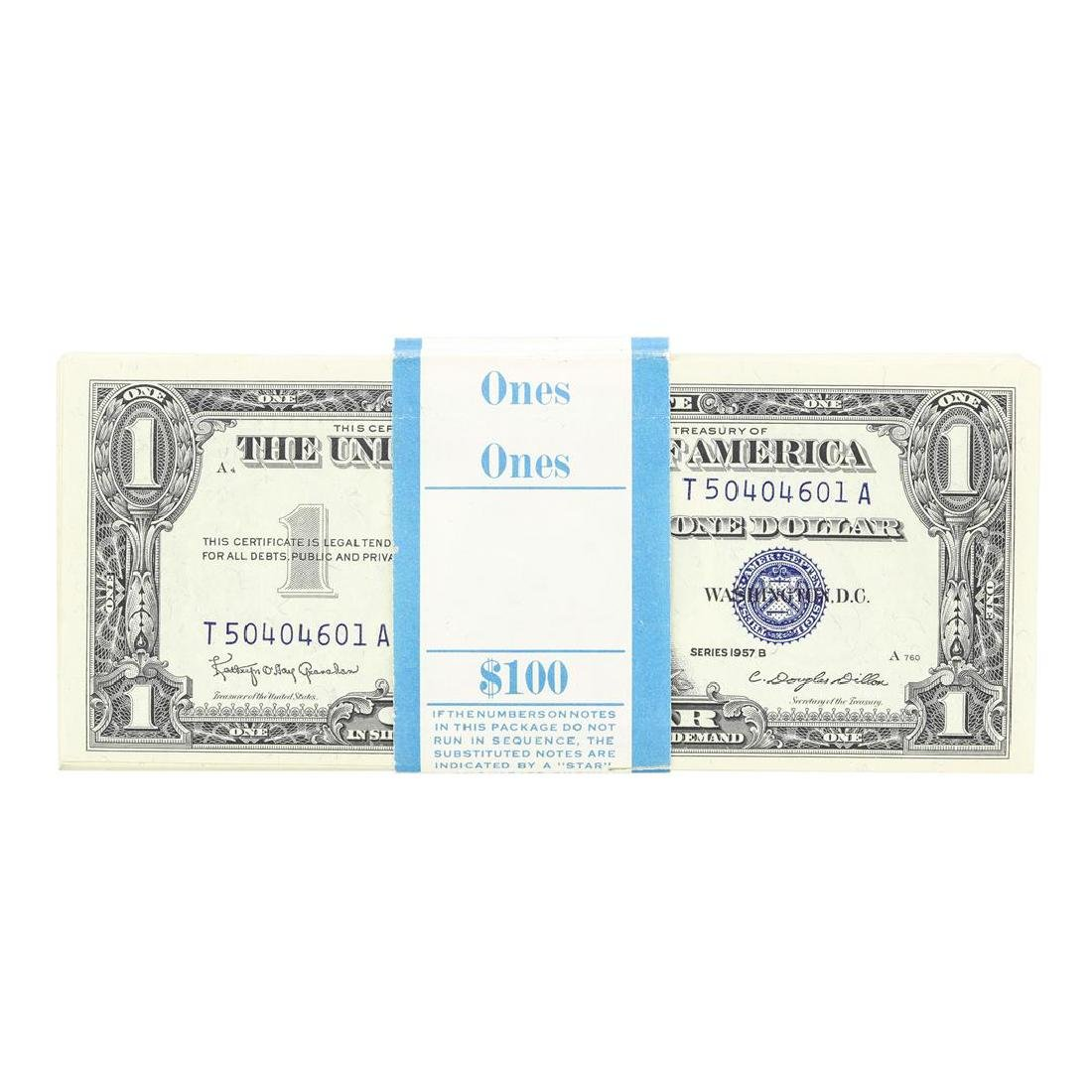 Pack of (100) Consecutive 1957B $1 Silver Certificate