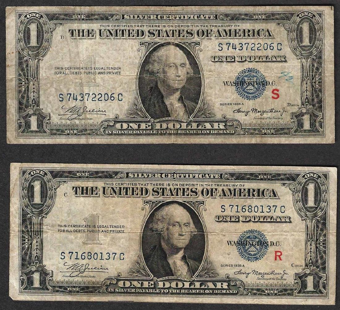 1935A $1 R & S Pair of Experimental Silver Certificate