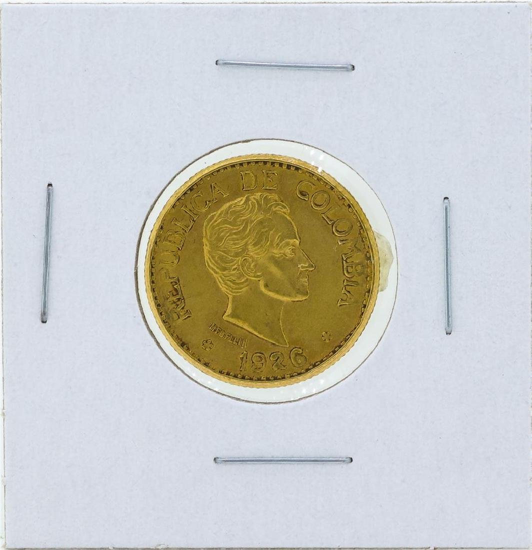 1926 Republic of Columbia 5 Pesos Gold Coin