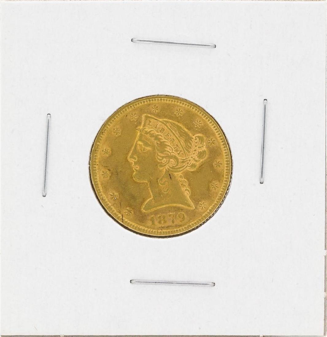 1879 $5 Liberty Head Half Eagle Gold Coin