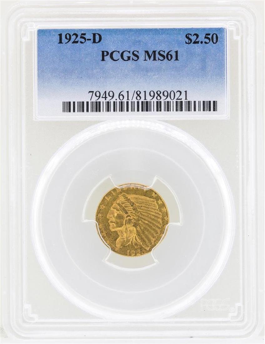 1925-D $2 1/2 Indian Head Quarter Eagle Gold Coin NGC