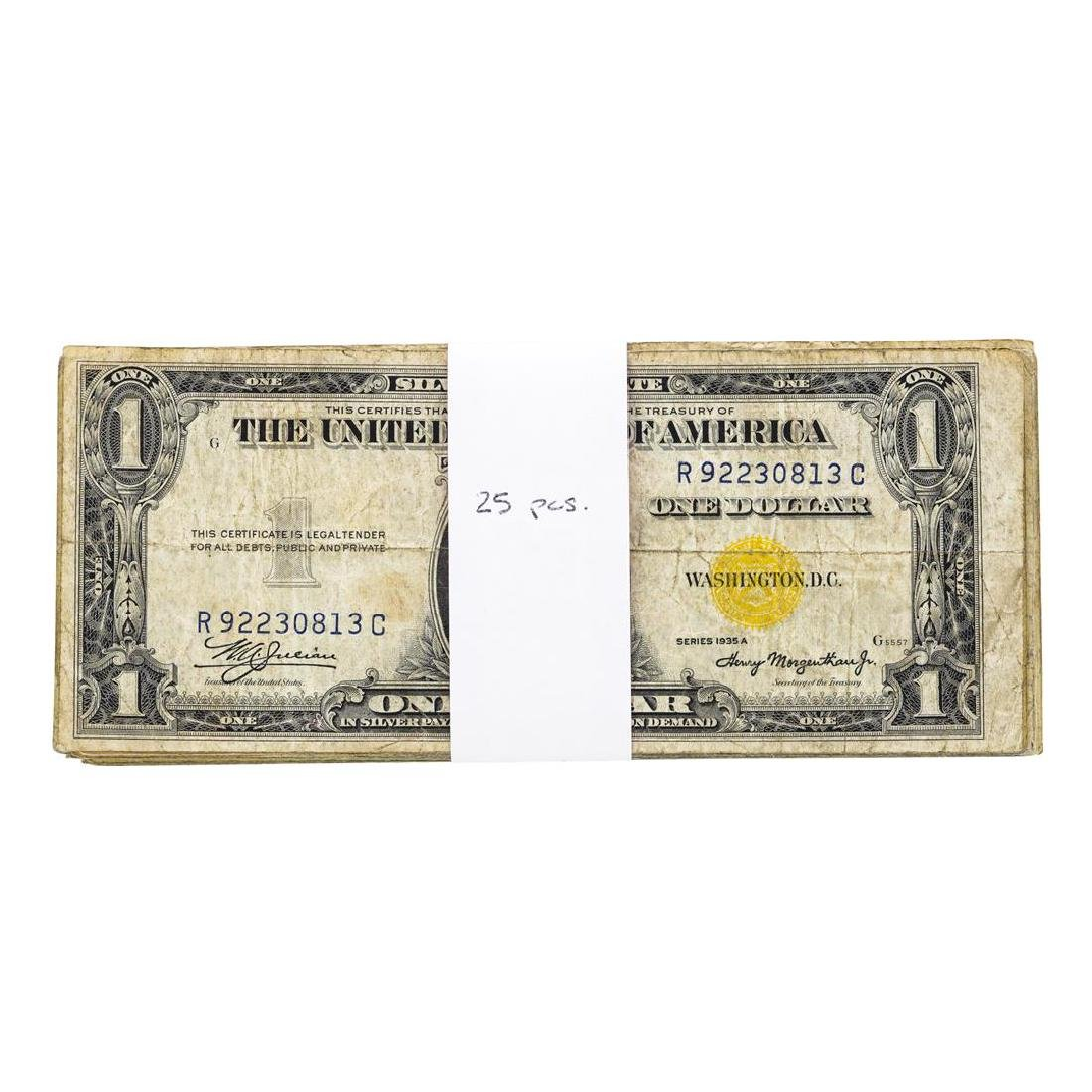 Lot of (25) 1935A $1 North Africa WWIII Emergency