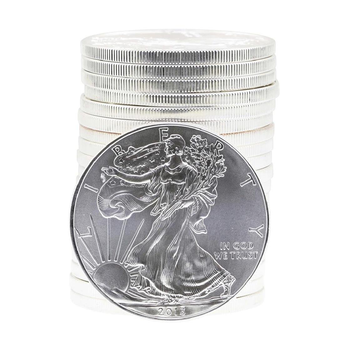 Roll of (20) 2013 $1 American Silver Eagle Brilliant