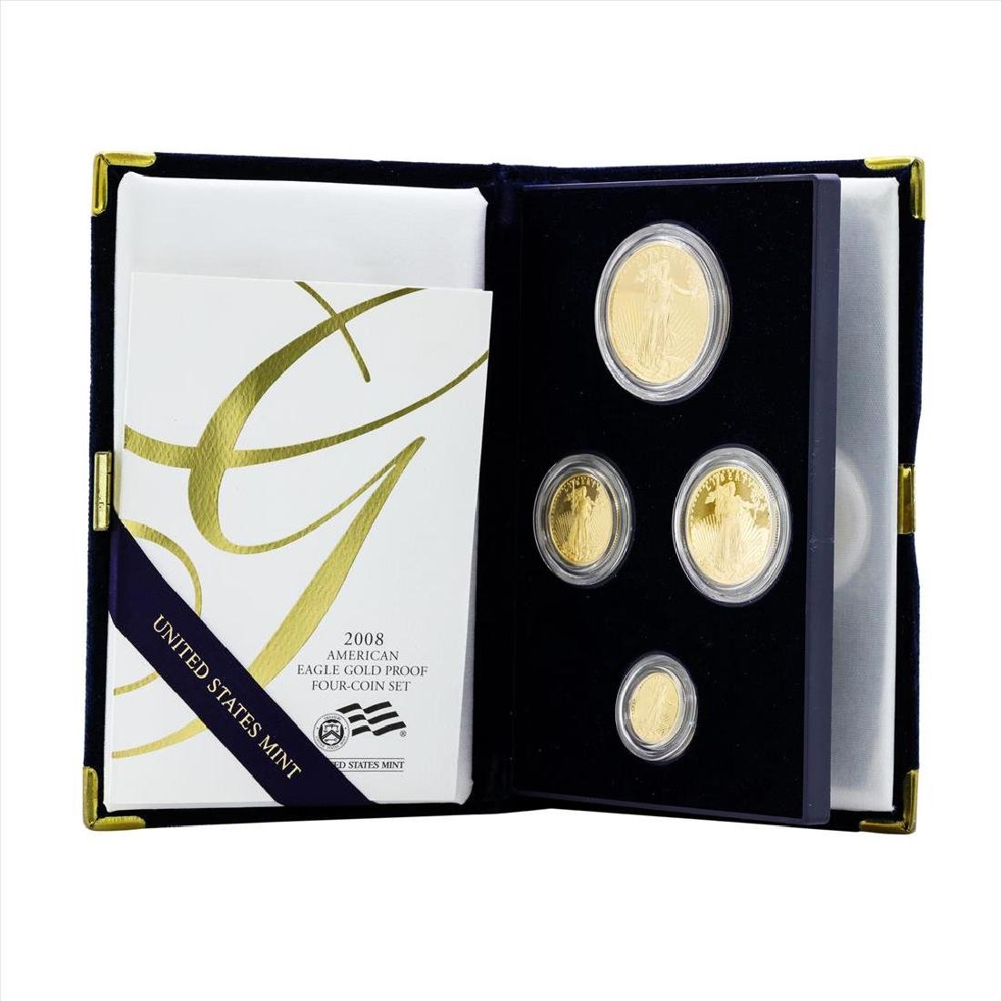 2008 (4) Coin American Gold Eagle Proof Coin Set with
