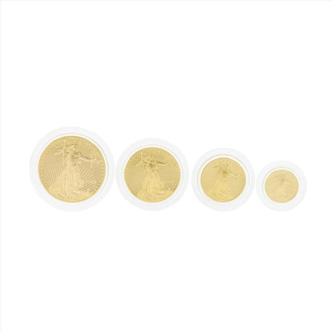2008 (4) Coin American Gold Eagle Proof Coin Set with - 2