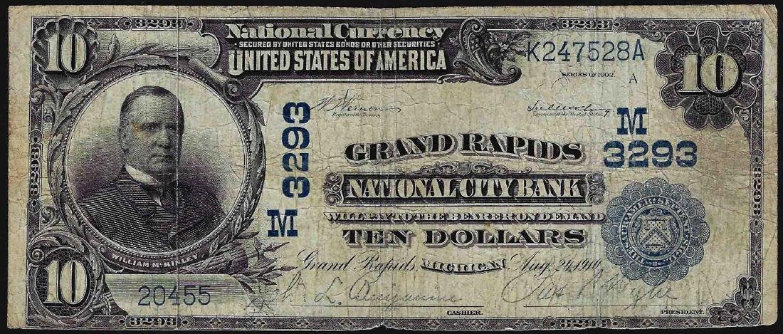 1902 $10 Grand Rapids National City Bank National