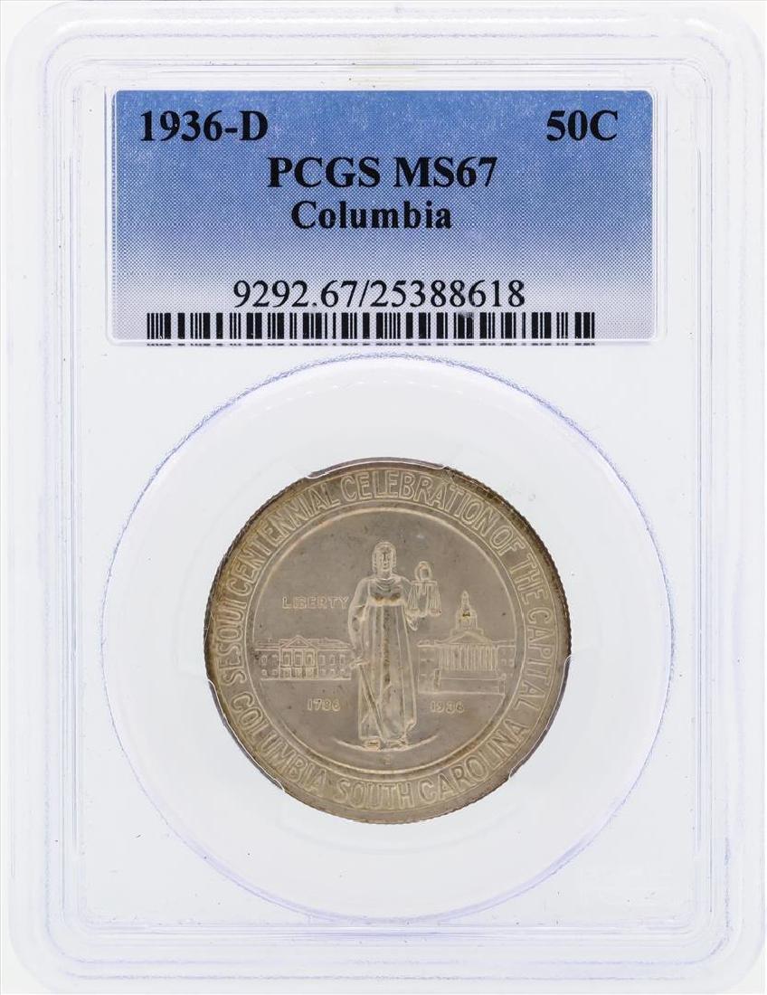 1936-D Columbia Commemorative Half Dollar Coin PCGS