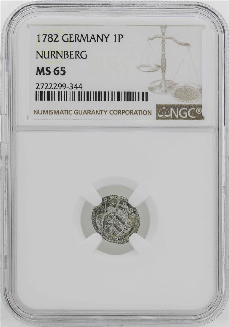 1782 Germany Nurnberg Pfennig Coin NGC MS65