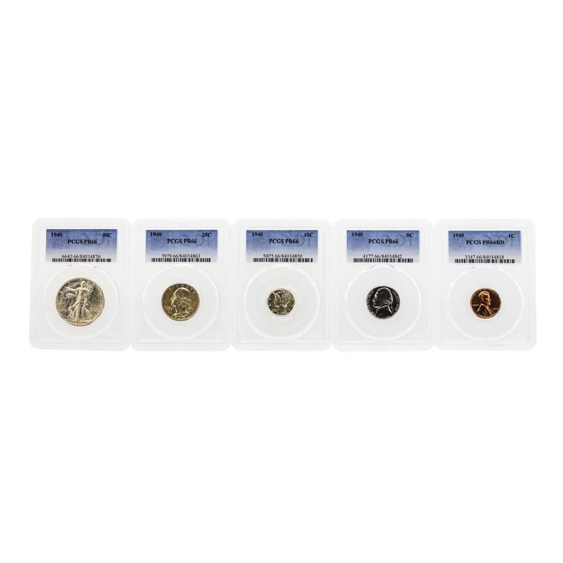 1940 (5) Coin Proof Set PCGS PR66