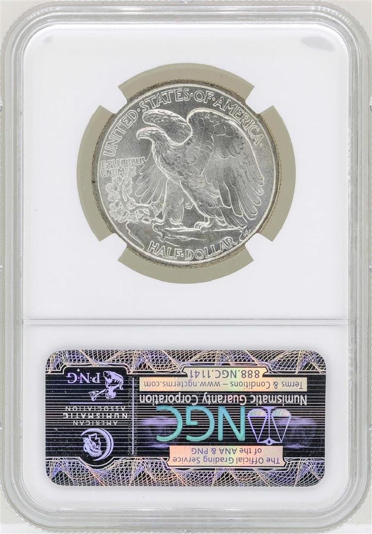 1947 Walking Liberty Half Dollar Coin NGC MS65 - 2