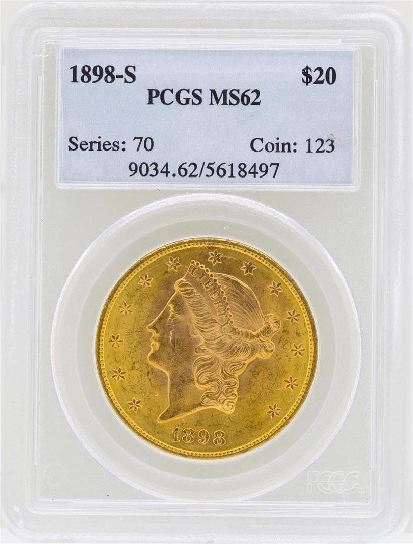 1898-S $20 Liberty Head Double Eagle Gold Coin PCGS