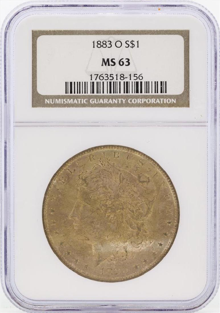 1883-O $1 Morgan Silver Dollar Coin NGC MS63