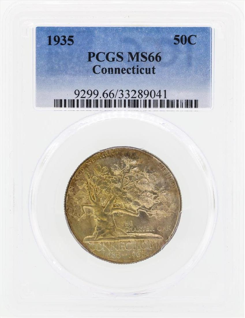 1935 Connecticut Commemorative Half Dollar Coin PCGS