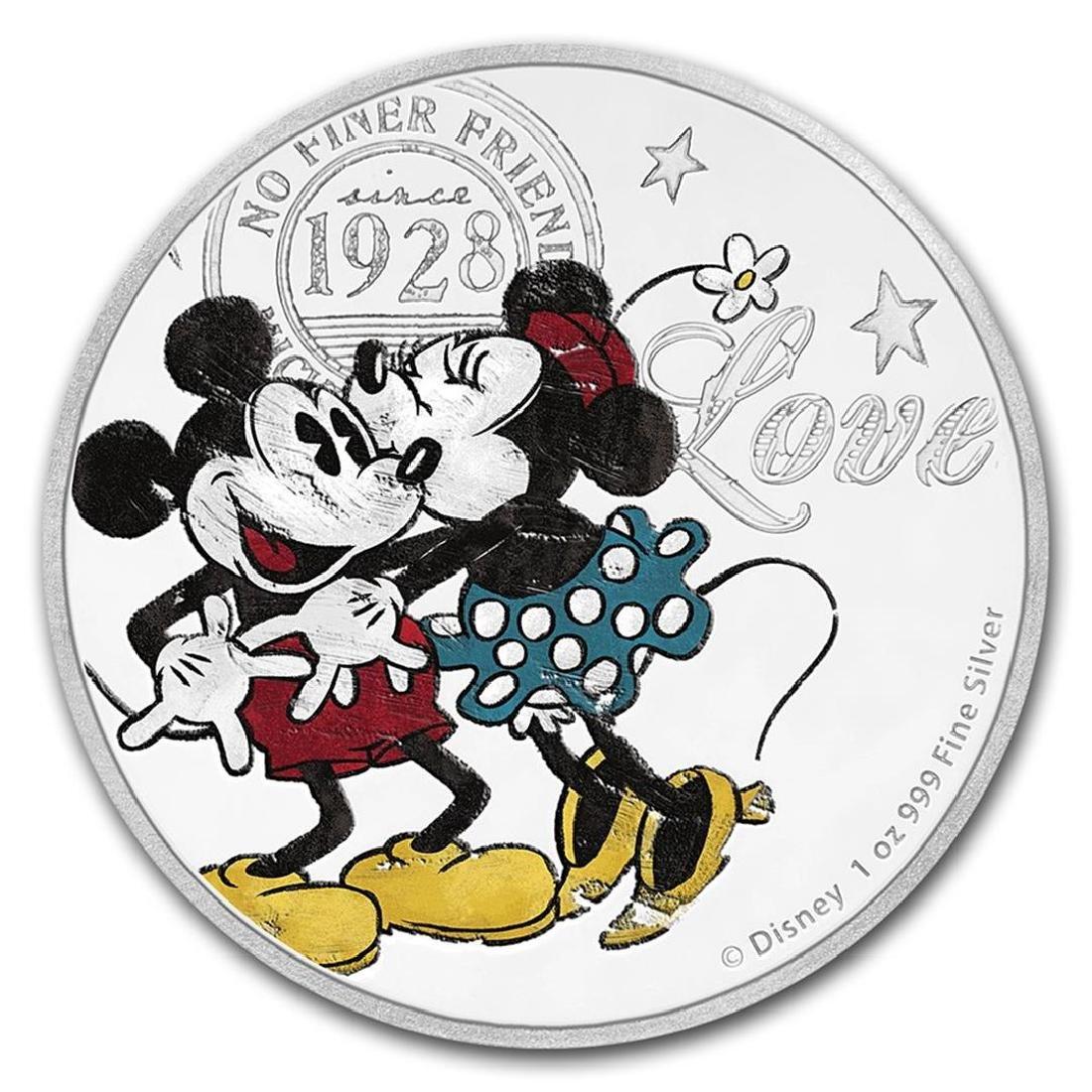 2017 Niue 1 oz Silver $2 Disney Love Coin