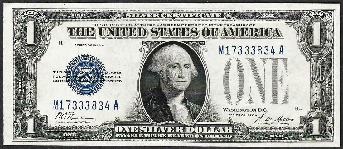 1928A $1 Funnyback Silver Certificate Note