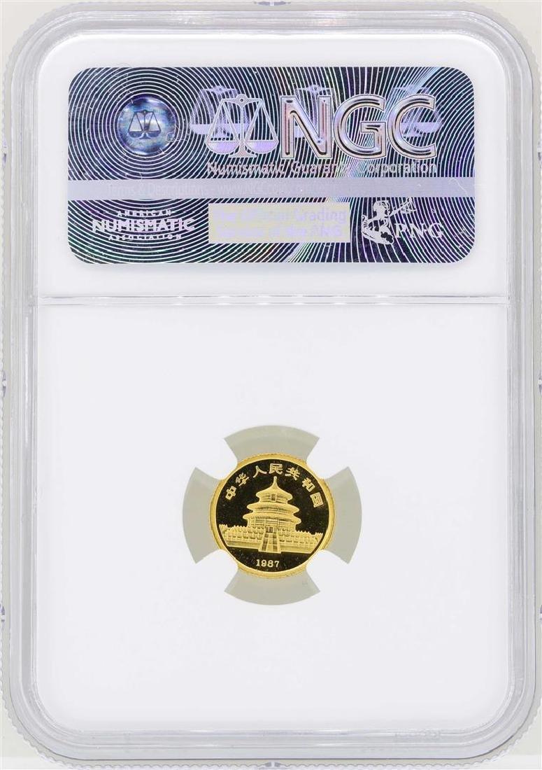 1987Y China 5 Yuan Panda Gold Coin NGC MS68 - 2