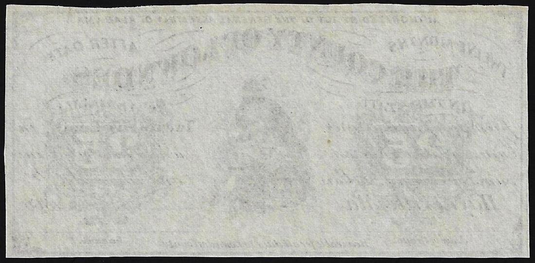 1866 Twenty-Five Cents County of Lowndes Obsolete Note - 2