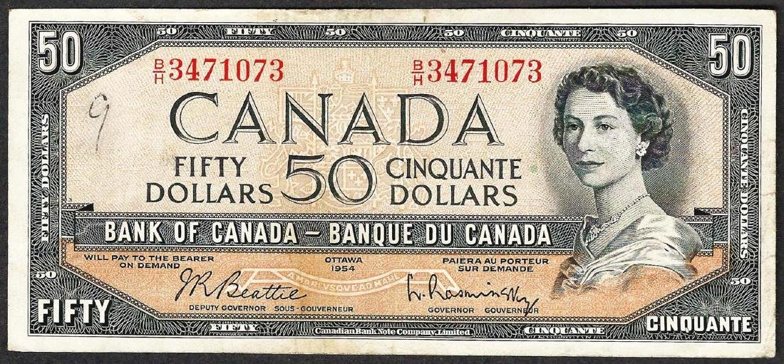 1954 $50 Bank of Canada Note