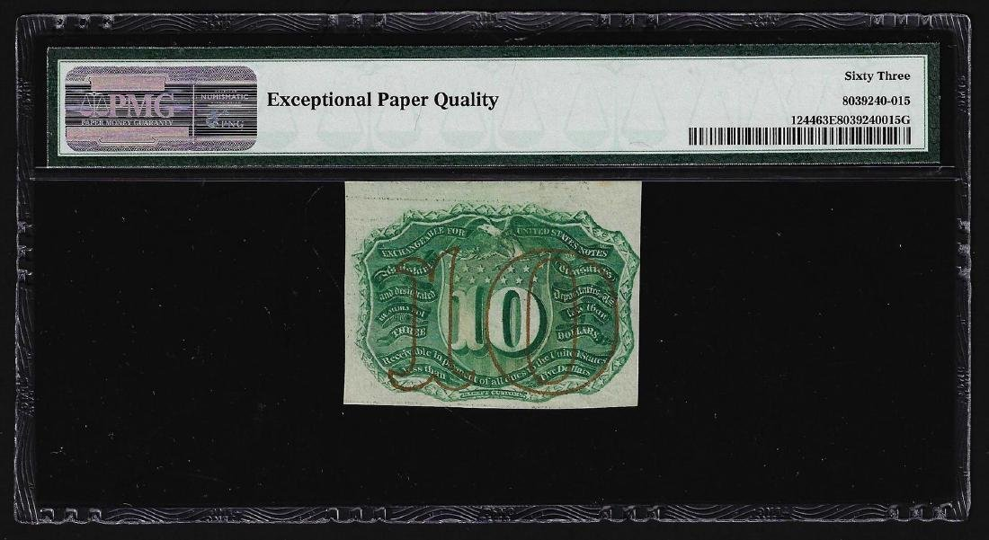 March 3, 1863 Ten Cents Second Issue Fractional Note - 2