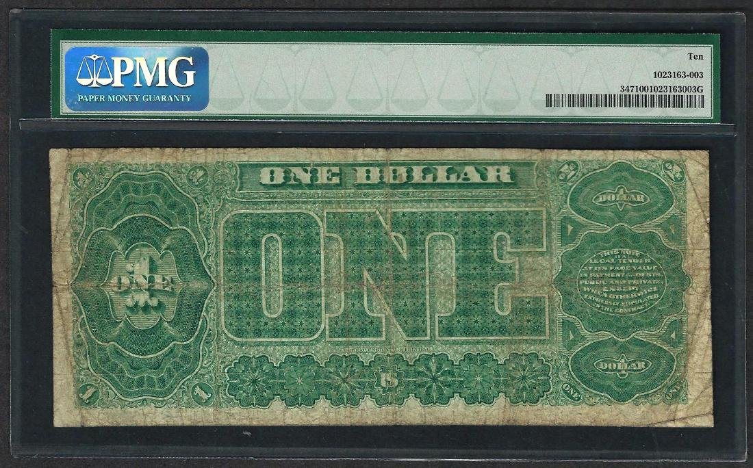 1890 $1 Treasury Note Fr.347 PMG Very Good 10 - 2