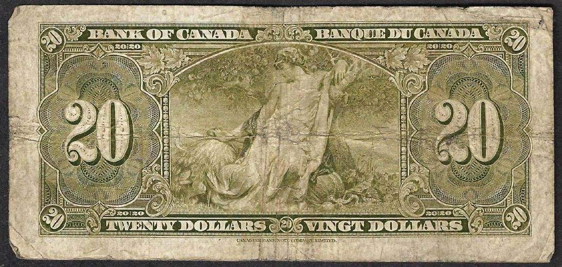 1937 $20 Bank of Canada Note - 2