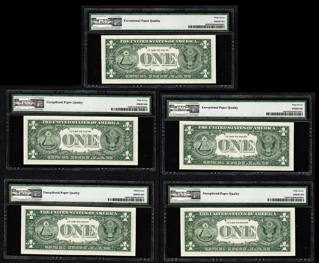 Lot of (5) 1957A $1 Silver Certificate STAR Notes PMG - 2