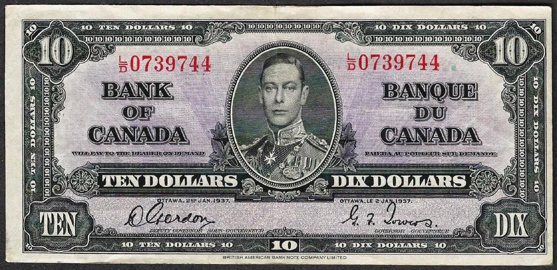 1937 $10 Bank of Canada Note