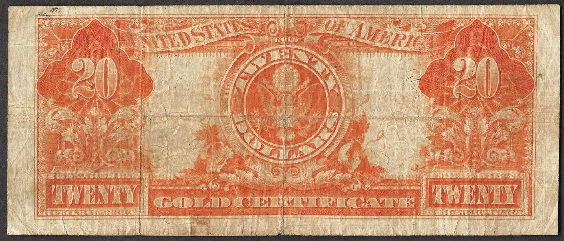 1922 $20 Gold Certificate Note - 2