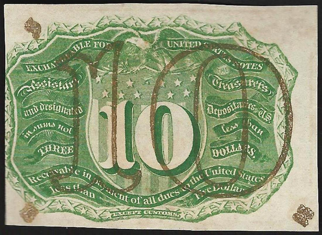 March 3, 1863 Ten Cent Second Issue Fractional - 2