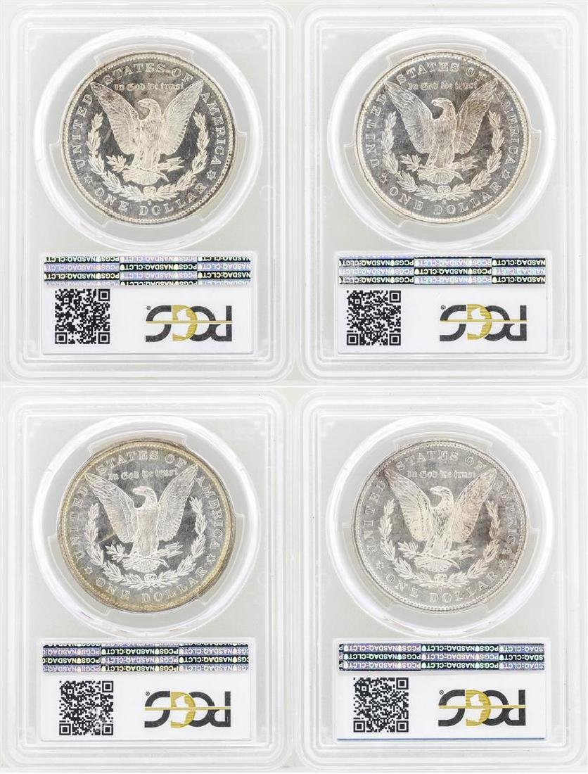 Lot of (4) 1881-S $1 Morgan Silver Dollar Coins PCGS - 2