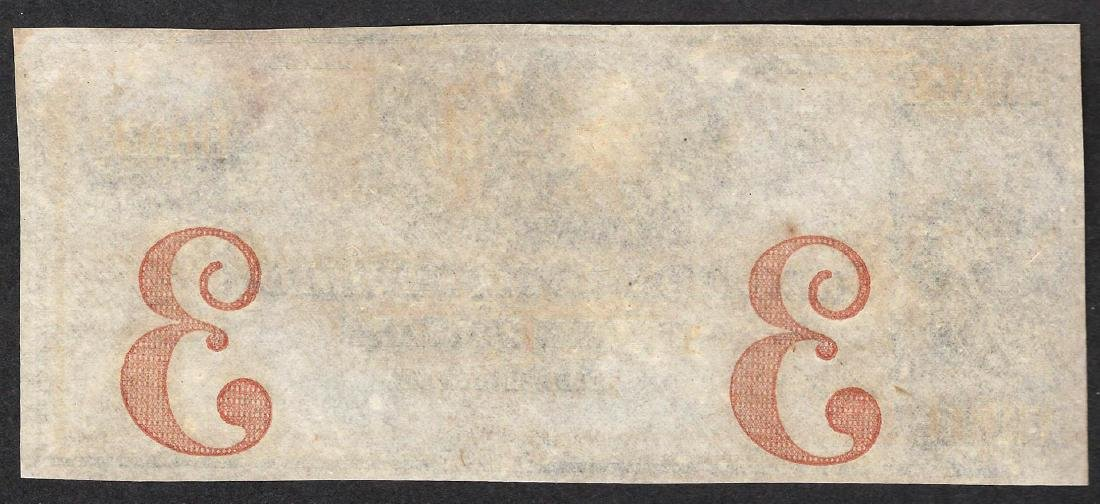 1800's $3 Union Bank of New-London Obsolete Note - 2