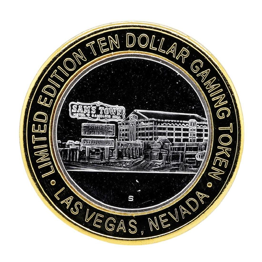 .999 Silver Sam's Town Las Vegas Nevada $10 Casino - 2