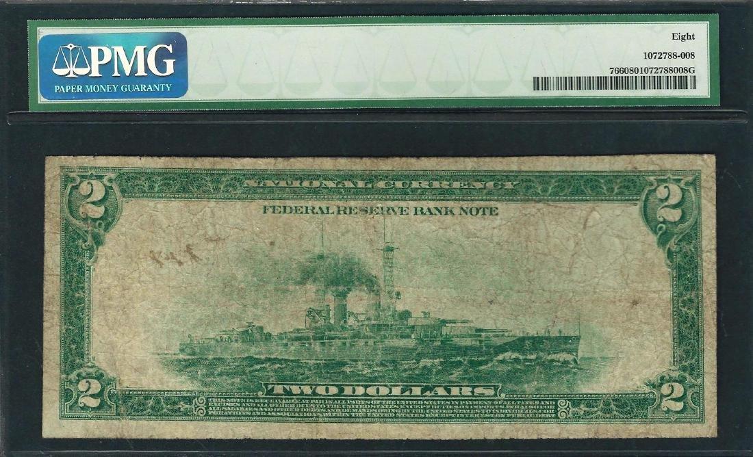1918 $2 Battleship Federal Reserve Bank Note Chicago - 2