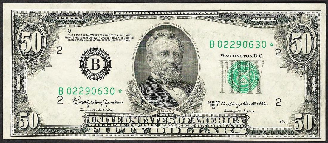 1950D $50 Federal Reserve STAR Note