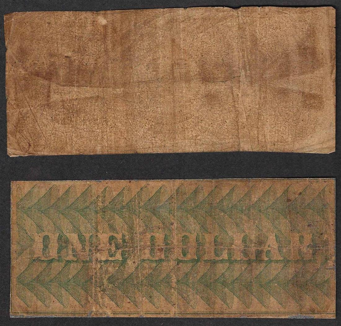 Lot of (2) Obsolete Bank Notes - 1855 $1 Potomax & 1862 - 2