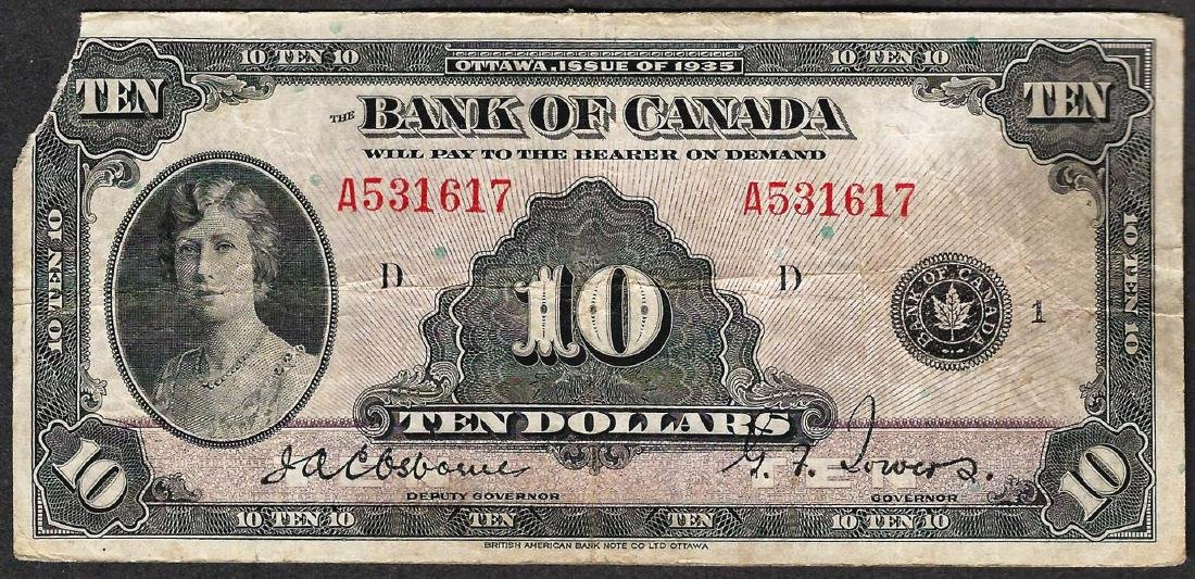 1935 $10 Bank of Canada Note