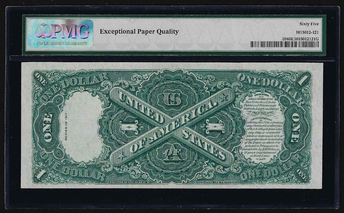 1917 $1 Legal Tender Note Fr.39 PMG Gem Uncirculated - 2