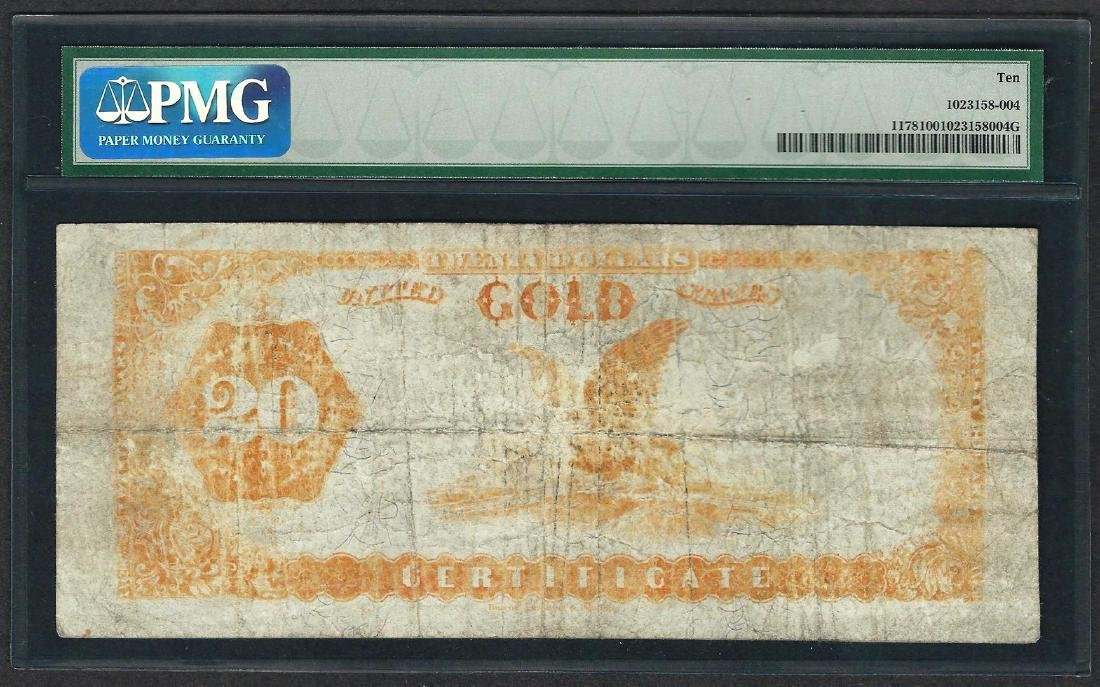 1882 $20 Gold Certificate Note Fr.1178 PMG Very Good 10 - 2