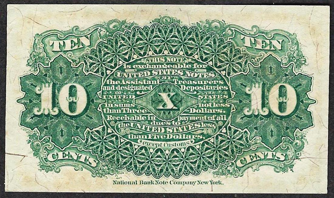March 3, 1863 Ten Cent 4th Issue Fractional Note - 2