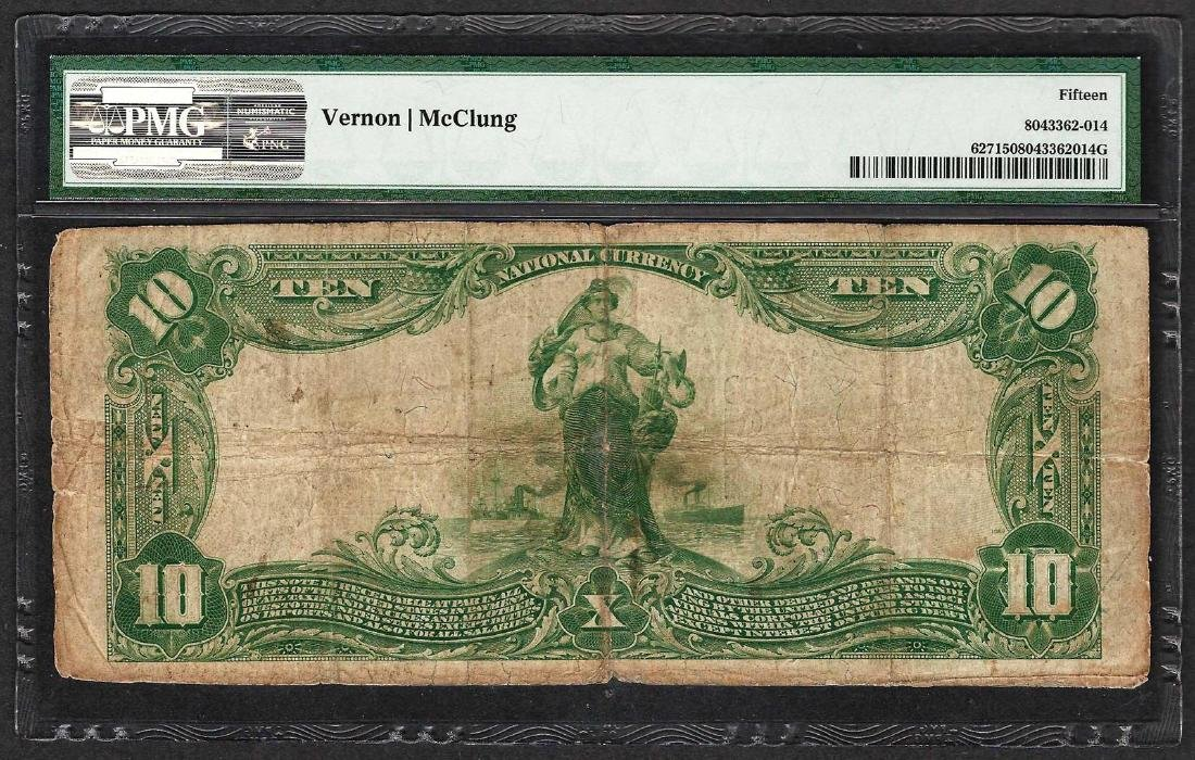 1902 $10 The First National Bank of Darby CH# 627 PMG - 2