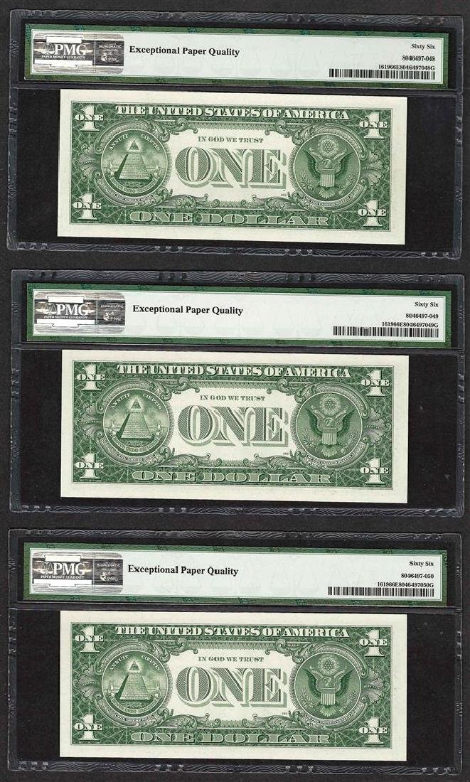 Lot of (3) Consecutive 1957 $1 Silver Certificate Notes - 2