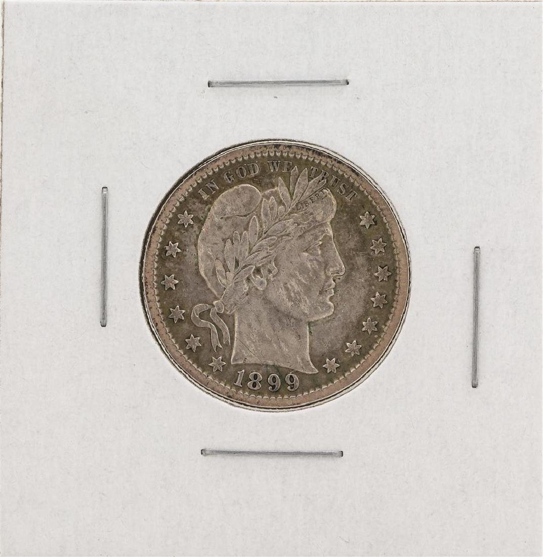 1899 Barber Quarter Silver Coin